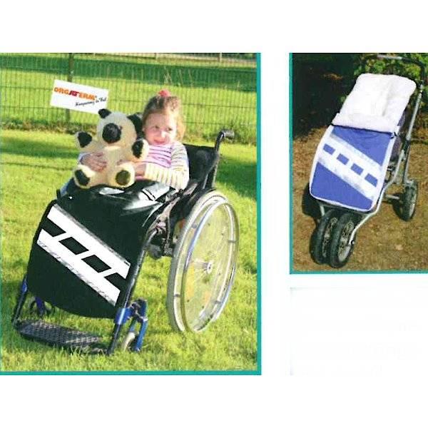 Sportlicher Rollstuhl-Schlupfsack für Kinder im Fußball-Design