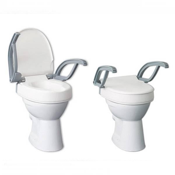 """Moderne Toilettensitzerhöhung """"Flush"""" in drei unterschiedlichen Sitzhöhen"""