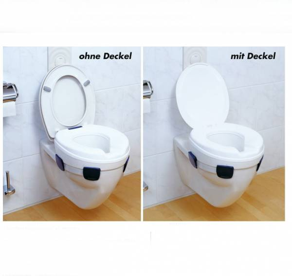 Toilettensitzerhöher Clipper mit oder ohne Deckel