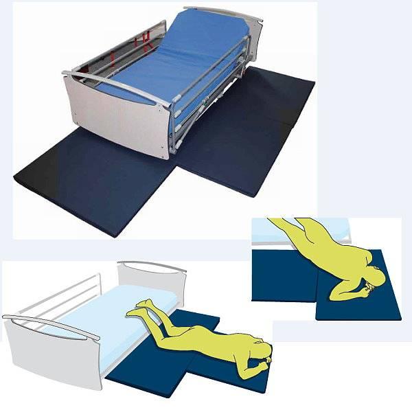 Fallschutz-Abrollmatte bei Stürzen aus dem Pflegebett