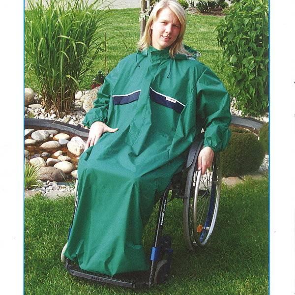 Regencape für Rollstuhlfahrer mit Arm