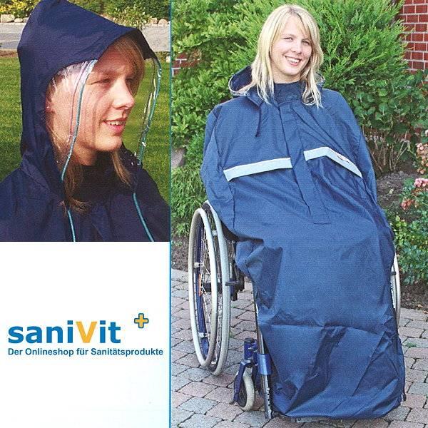 Regencape für Rollstuhlfahrer ohne Arm