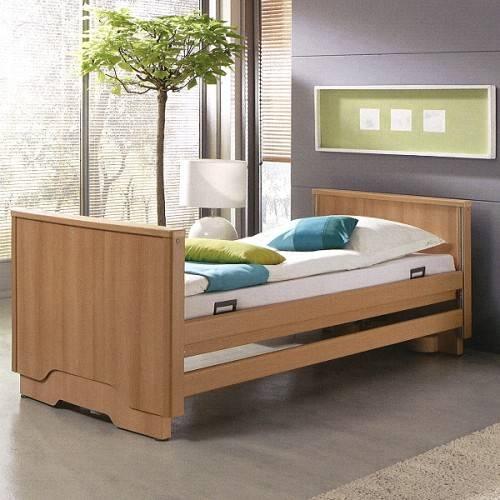 Pflegebett Royal mit Holzverkleidung