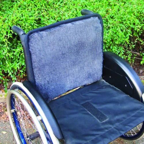 Echtfell-Rückenauflage für den Rollstuhl