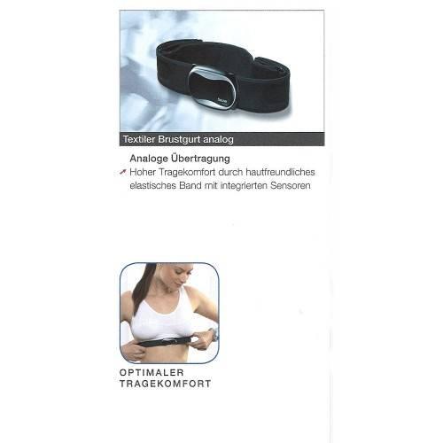 Textiler Pulsuhren-Brustgurt analog oder digital