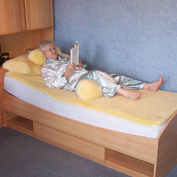 Anti-Dekubitus-Betteinlage aus medizinischem Schaffell